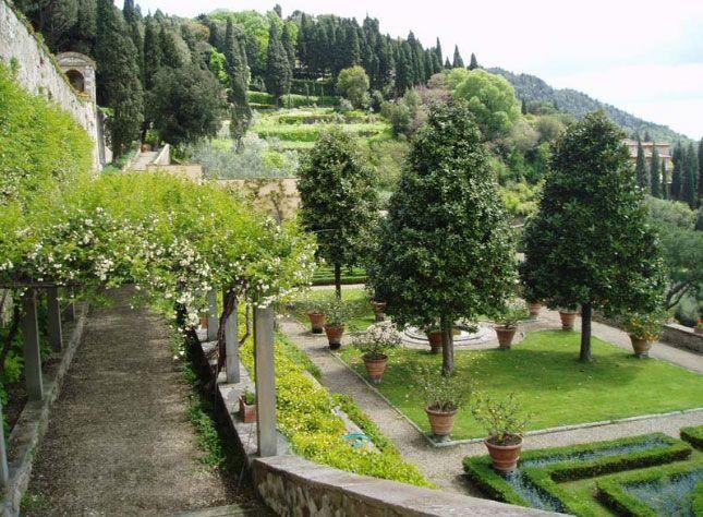 Villa Medici Fiesole Paissage I Jardin Pinterest