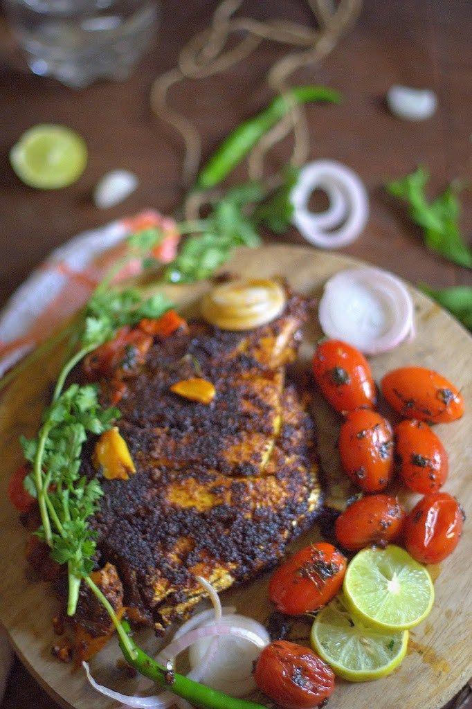 Pan fried Pomfret in Konkani masala - La Petit Chef