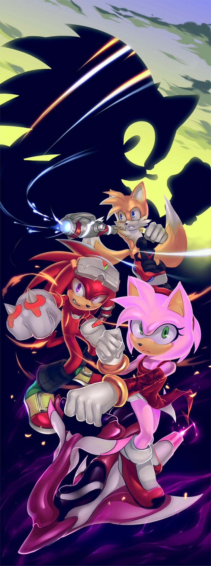 RMR - amy, knuckles and tails by cat-meff.deviantart.com on @deviantART