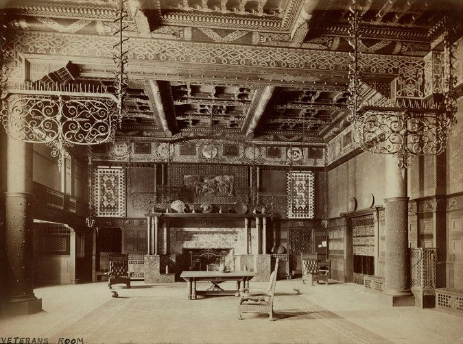 The Veterans Room At Park Avenue Armory By Louis Comfort Tiffany And Associated Artists
