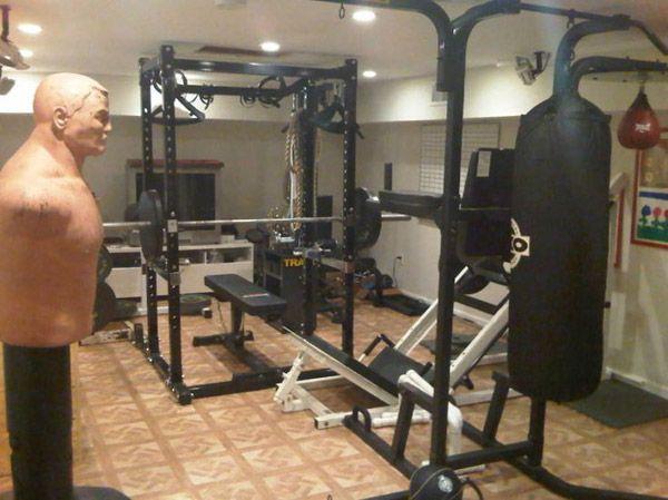 Looks like a basement gym