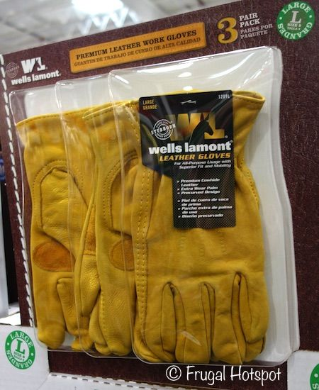 Wells Lamont 3-Pack Leather Work Gloves. #Costco #FrugalHotspot
