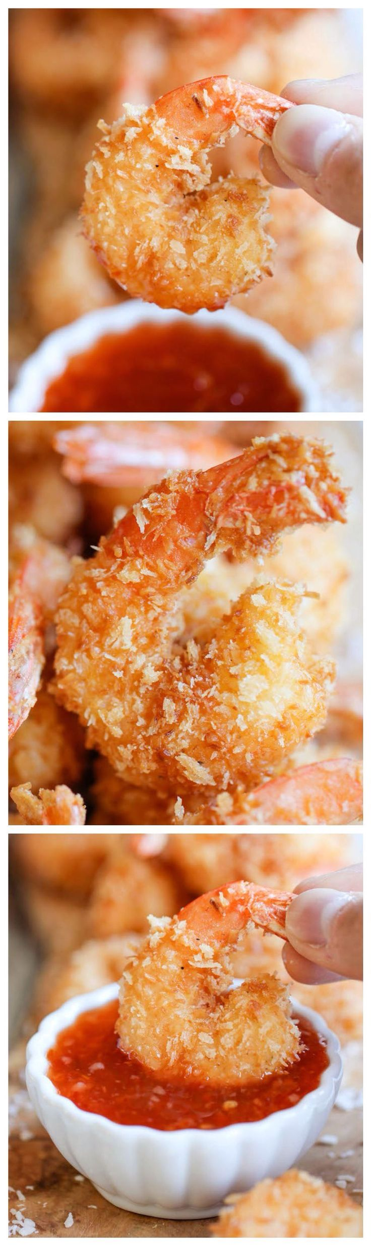 Easy coconut shrimp recipe! | You will love this tasty shrimp with a sauce. #Homemaderecipes