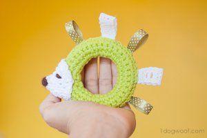 Hedgehog Crocheted Baby Toy | AllFreeCrochet.com