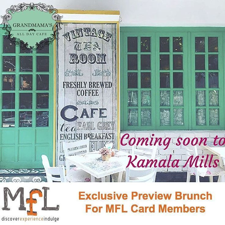 THIS EVENT IS EXCLUSIVELY FOR MFL CARD MEMBERS  Owing to an overwhelming response to the flagship outlet in Dadar Grandmamas is getting geared to set up a kitchen in Lower Parel. It will retain its original flavour- traditional decor that soothes your eyes and carries you to an era of antiquated charm coupled with comfort food and the feel-good vibe that is the essence of Grandmamas philosophy.  In addition to these qualities Grandmamas Cafe at Lower Parel will boast a wider choice in its…