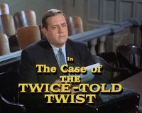 Raymond Burr in the only color episode of PERRY MASON.