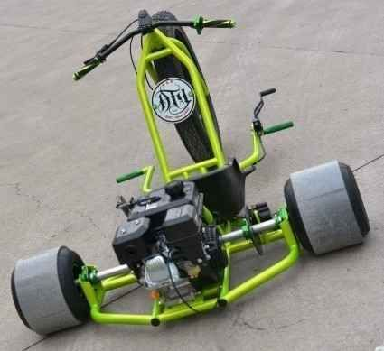 New 2015 Gsi Gas Powered Drift Trike Tricycle Bike Fat Ryder Motoriz ATVs For Sale in Illinois. The Gas Powered Drift Trike Tricycle Bike Fat Ryder Motorized Big Wheel is built using beefy .095 DOM tubing that is mandrel bent. Most trikes or race karts use 1-1/4¿ tubing. We decided to keep with the idea that bigger is sexier and use 1-1/2¿ tubing. No more weight limits to worry about with this beast! 300lbs plus? no problem! On road or off this thing is bad. Slick lines, beefy construction…