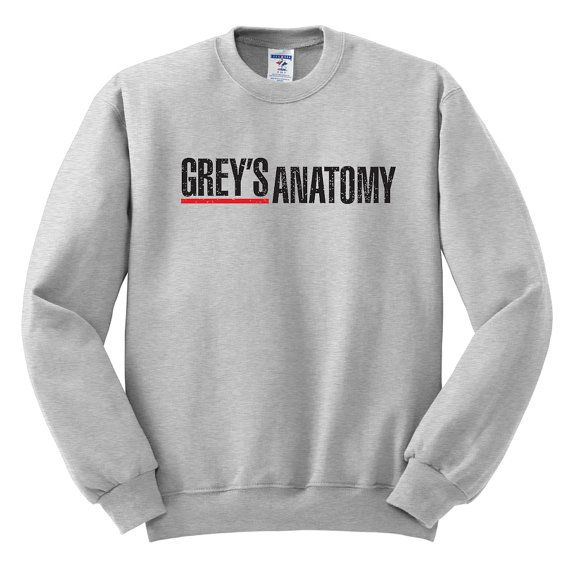 Grey's Anatomy Sweatshirt | Greys Anatomy Sweatshirt | Grey's Anatomy Grey Sweatshirt | Melonkiss  (483)