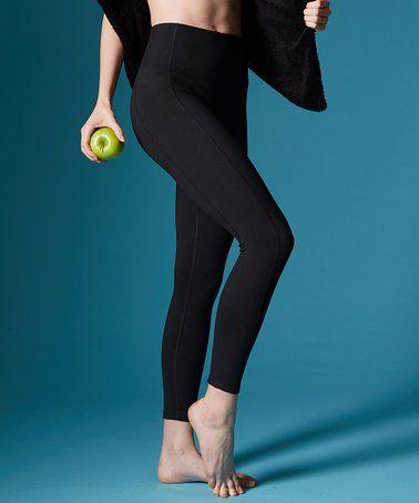 90a03023f7a01 Black Olivia High-Waist Tummy Control Leggings - Women by Marika #zulily  #zulilyfinds
