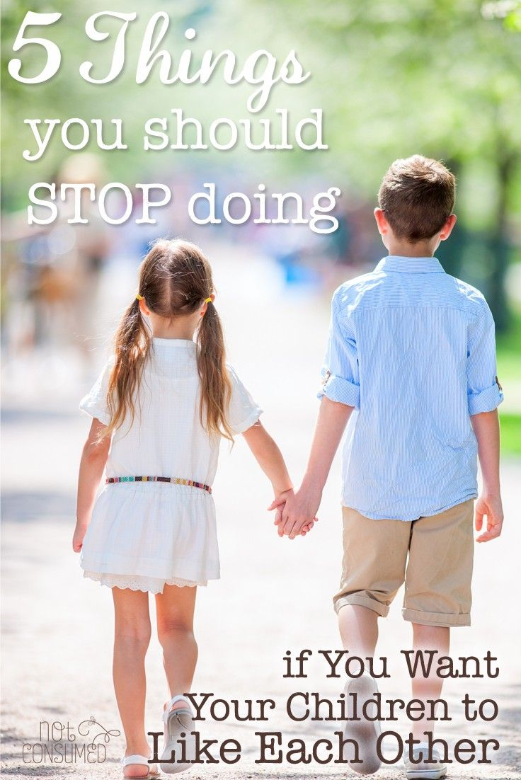 No parent ever likes to come to the realization that THEY are the problem. I know I sure didn't. But my kids are too important to carry that pride. I had to STOP doing the things that were causing sibling rivalry and start giving them the tools to actually like each other.