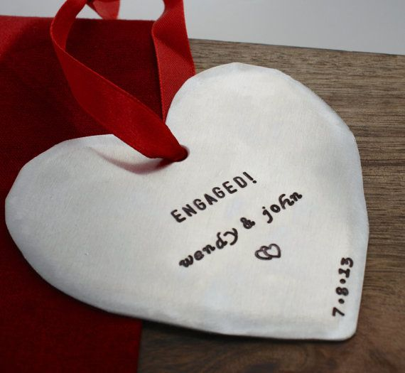 Engaged Ornament Personalized Engagement by sierrametaldesign, $22.00 ... I always wanted an engagement ornament.. is it too late??