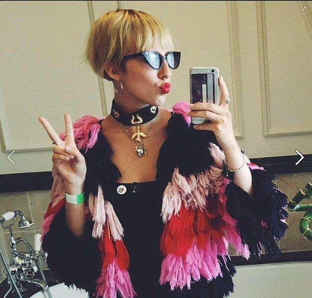 Freya Edmondson, the daughter of Absolutely Fabulous creator Jennifer Saunders, showed she shares a sense of style with her mum¿s blingy on-screen alter ego Edina in this snap she posted on Facebook