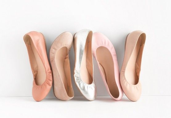 neutral ballerina flats//