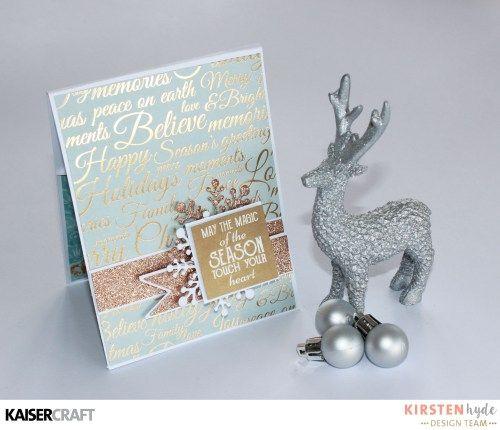 KAISERCRAFT - CHRISTMAS WISHES - CHRISTMAS CARD - POP UP CARD - KIRSTEN HYDE - MYHYDEAWAY - 1