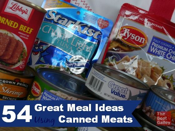 Canned meats are great in all sorts of recipes, not just as sandwich fillers.  54 ideas for great meals! via @TheBoatGalley
