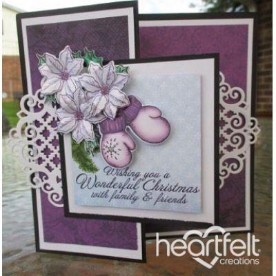 Gallery | Purple Mittens And Poinsettias - Heartfelt Creations