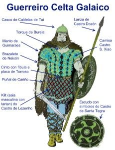 Dress and weapons of a Celtic warrios from Galicia in the  3rd century B.C. Interesting page...