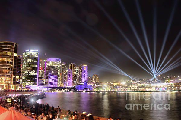 #Vivid_Sydney #Skyline by #Kaye_Menner #Photography Quality Prints Cards Products at: https://kaye-menner.pixels.com/featured/vivid-sydney-skyline-by-kaye-menner-kaye-menner.html