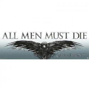 GAME OF THRONES All Men Must Die Slim Print Poster #gameofthrones #got #nightswatch #johnsnow #poster #licensed #season7 #wallart #raven #threeeyedraven #allmenmustdie #rockabilia #tvshow #entertainment