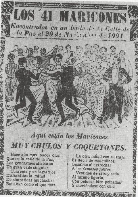 El baile de los 41 maricones en 1901