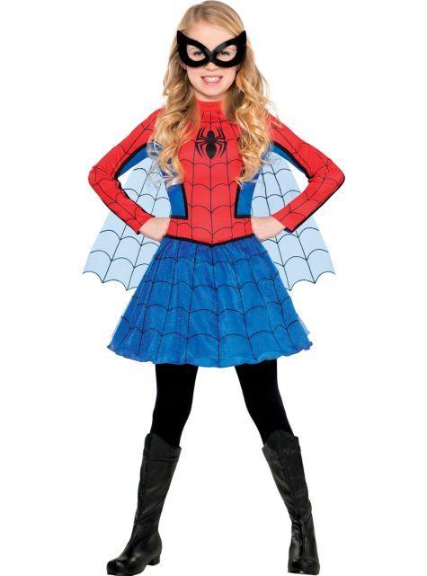 Girls Red Spider Girl Costume Party City Kindergarten Spider