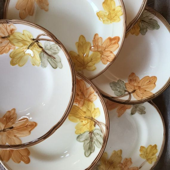 Vintage Franciscan ware dishes in October by polkadotsandcurls