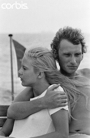 1960's. France. Sylvie Vartan et Johnny Hallyday