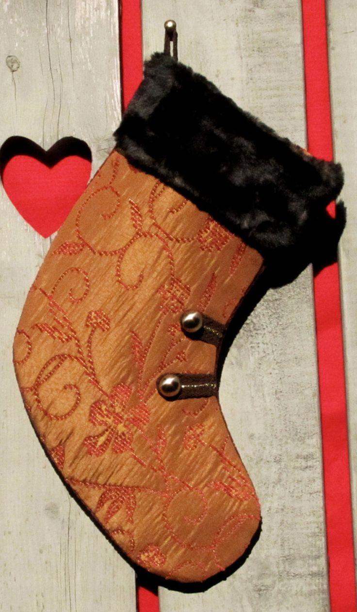 BAS DE NOEL fait main/Hand made Christmas stocking de la boutique HOLESBAS sur Etsy