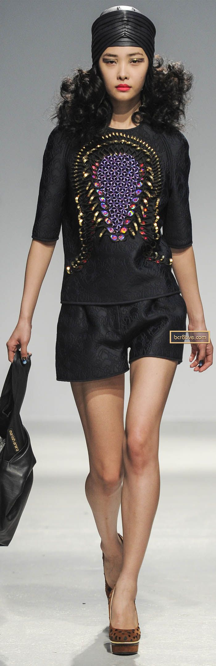 I hate shorts but this whole look is gorgeous. I totally want these. Manish Arora Fall Winter 2013