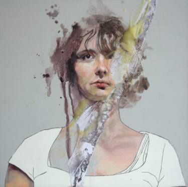 "Saatchi Art Artist Jessica Rimondi; Painting, ""Sara's Thought"" #art"