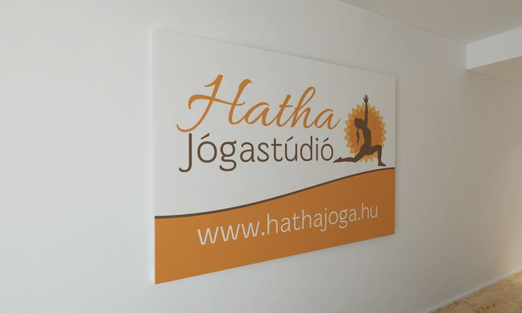 Yoga studio sign board