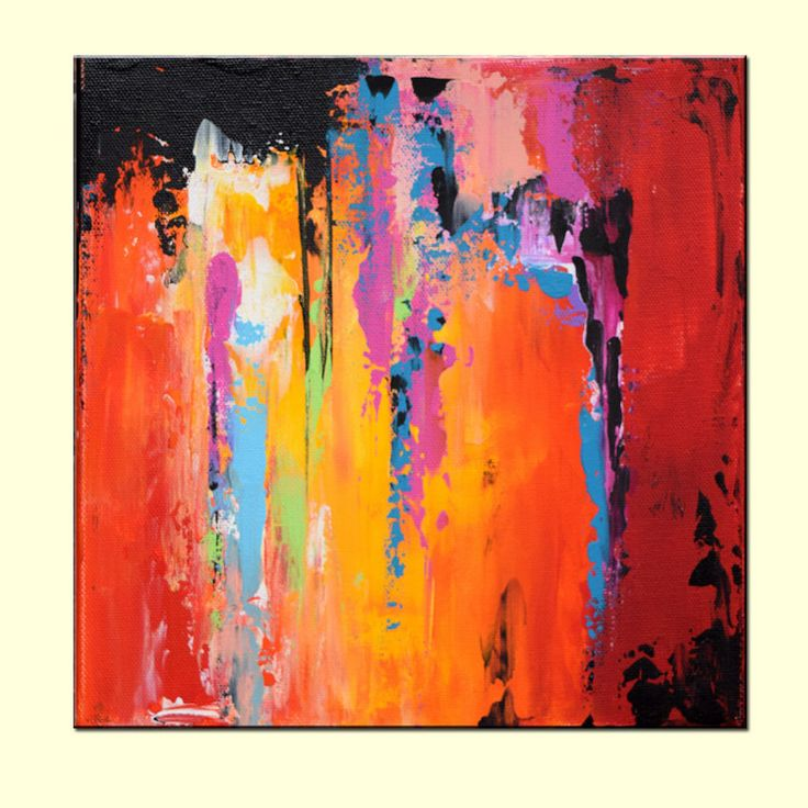Large Abstract Contemporary Art Canvas by ModernArtHomeDecor