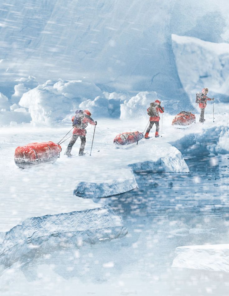 South Pole expedition photos