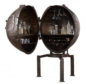 In the 1920s, Germans used it to test light bulbs. Today, the German Light Bulb Voltage Tester Bar has been re-imaginedd into one uber cool bar sure to impress guests. $1,995  restorationhardware.com