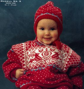 Dale of Norway NR 81 baby reindeer sweater knitting pattern