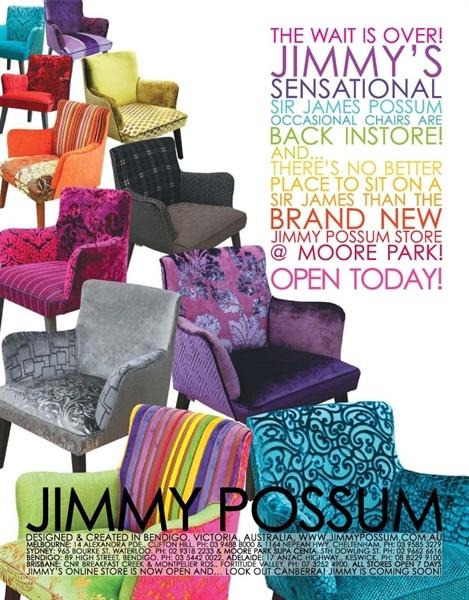 #JimmyPossum #SirJamesPossumChair www.jimmypossum.com.au