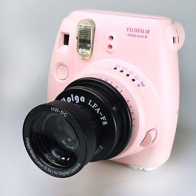 HOLGA WTL-F8 Wide & Tele Lens + Adapter for Fuji Fujifilm Instax Mini 8 Camera