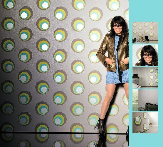 Tapete Nena Designer Marburg Retro Grau 57232