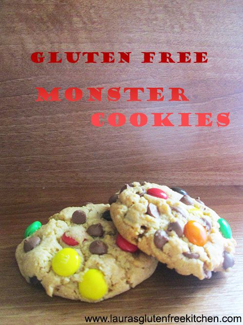 Gluten Free Monster Cookies ---These cookies are super moist, soft tender and crisp on the edges.These are great and of course i had to go over the top with my M&M's and chocolate chips as usual but to me enough is never enough.