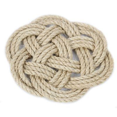 Latitude 38 9-Inch Nautical Jute Rope Knot Trivet - BedBathandBeyond.com