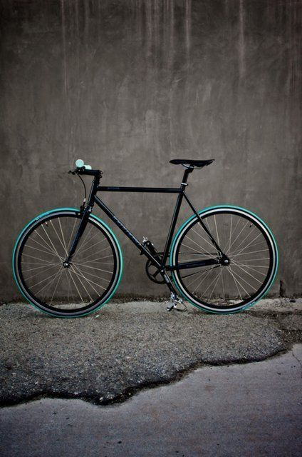 This is a single speed bicycle that looks like one of my own bikes. Bicycling is one of my favorite things to do. I commute to class on my bicycle every day.