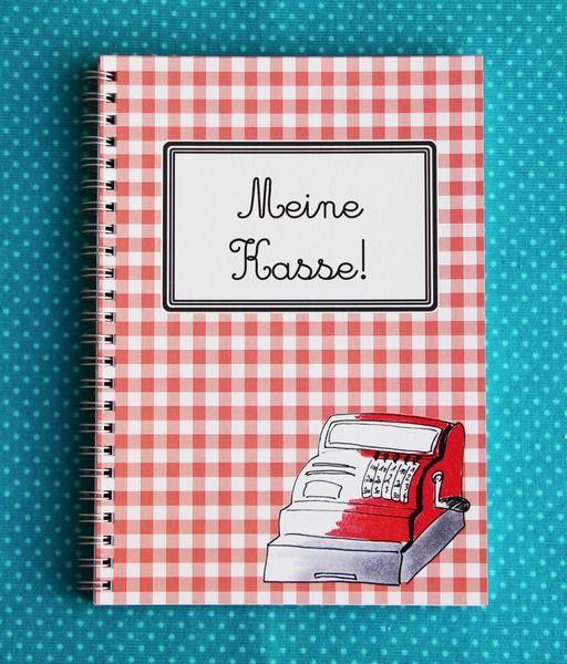 Notizbücher - Meine Kasse Kassenbuch Kassenbericht A5  - ein Designerstück von cherrypickingDIY bei DaWanda