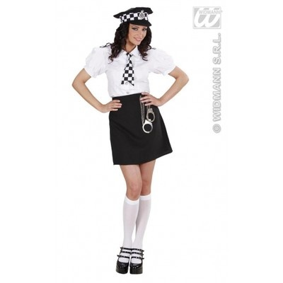 Ladies 5 Piece WPC British Police Girl Woman Officer Fancy Dress Costume 8-10 on eBay!