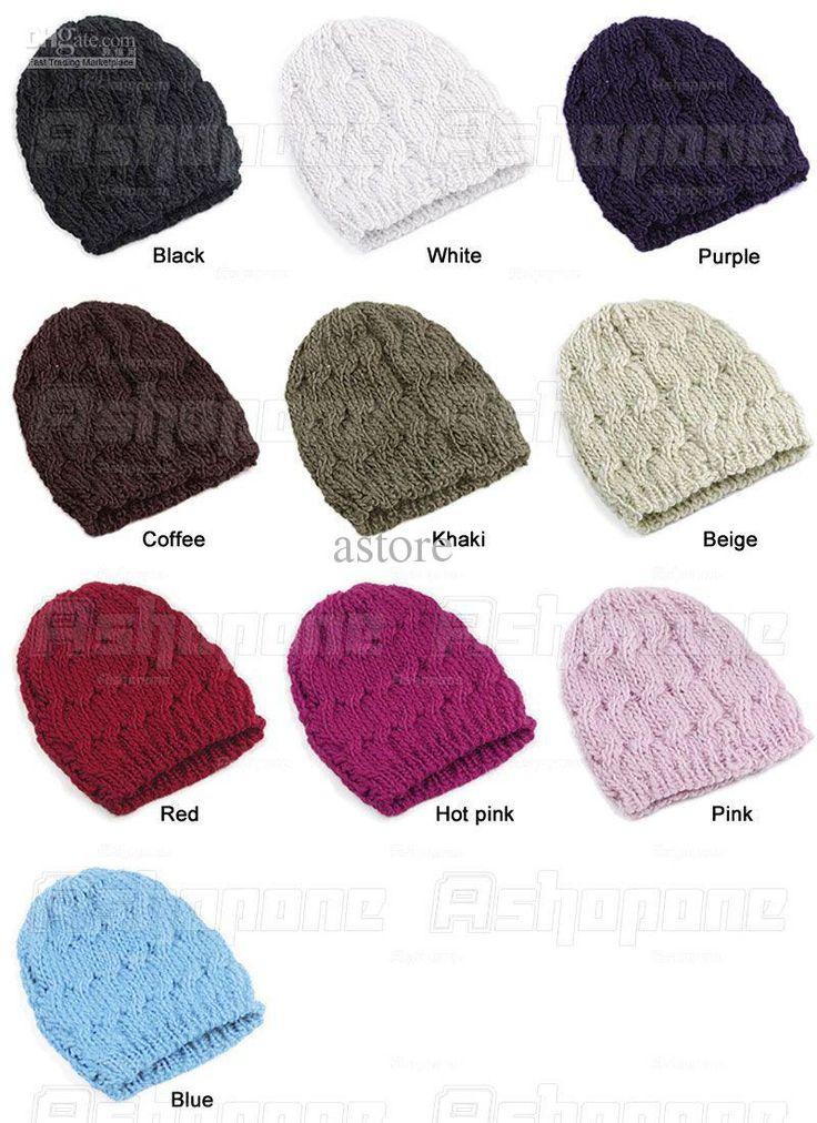 Wholesale Hat Cap - Buy Women Winter Knitted Crochet Beanie Hat Cap $1.56 | DHgate