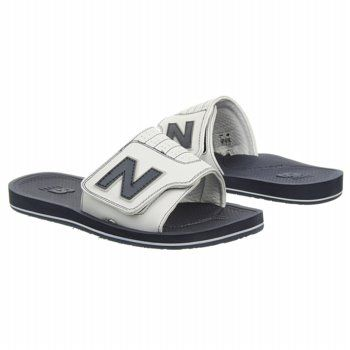 Men's New Balance Classic 609 Slide White/Navy FamousFootwear.com