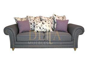 PRODUCTO: Sala 3-2-1 MODELO: Inmugal INCLUYE:Un sofá, love y sillón MATERIALES DE FABRICACIÓN: ESTRUCTURA: fabricada en madera de pino de primera, reforzada con bastidores de álamo americano, para mayor resistencia y durabilidad.TAPIZADO: En tela lino gris claro material 100% lavable. ACOJINADO: asiento con relleno de delcron engreña, para mayor resistencia,alma de hule espuma de 36 k. de densidad, respaldo con delcron tapiz de cojines en lino estampado. COLORES: disponible en gris claro