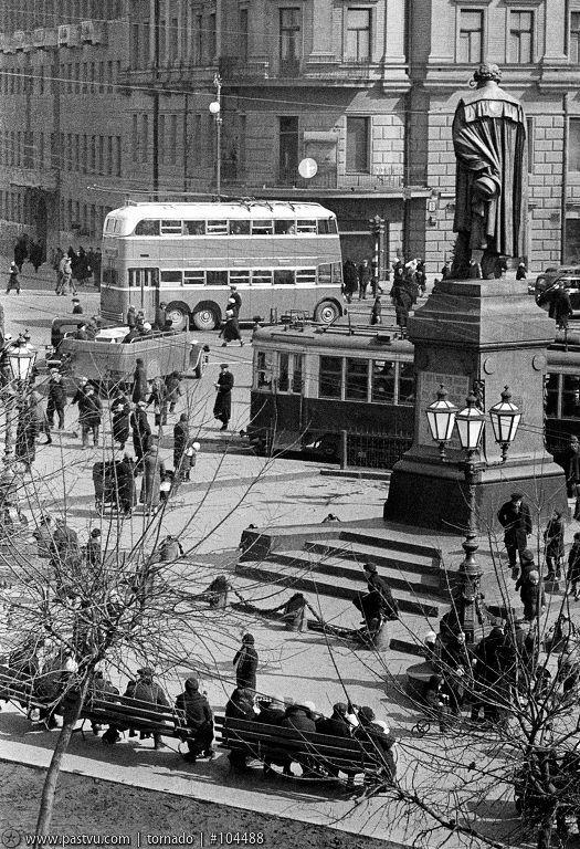 Прогулка по Москве 1945 года – Варламов.ру. Пушкинская площадь