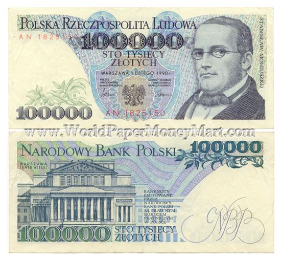 polish money | ... right guaranteed genuine currency paper money banknote bill note $ 25