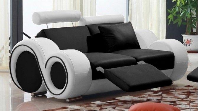 Canape De Relaxation 2 Places En Cuir Design Carlson Gdegdesign Petit Canape 2 Places Petit Canape Canape Fauteuil