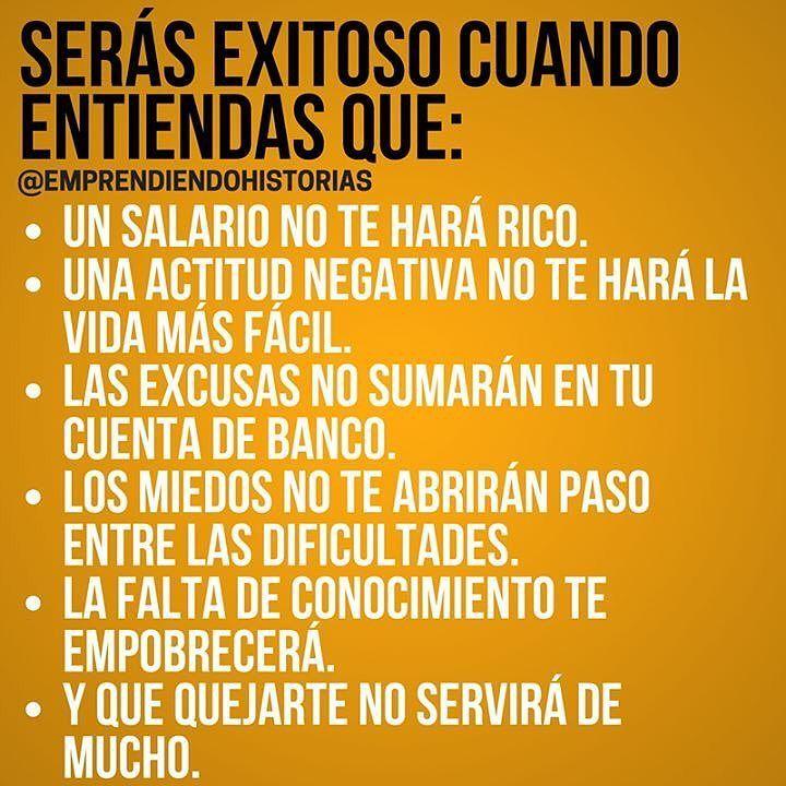 Serás exitoso cuanto... @emprendiendohistorias